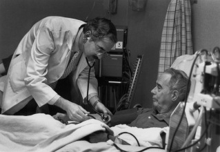 Dr. Lawton in the Dialysis Unit 1987