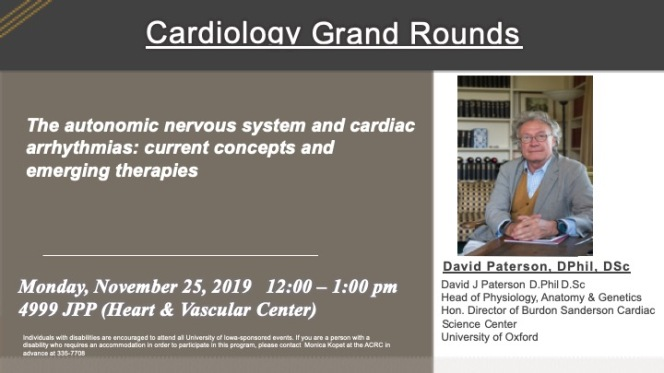 ACRC Seminar Series Cardio Grand Rounds Nov 25