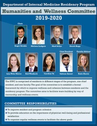 Resident Wellness Committee poster 2019-20